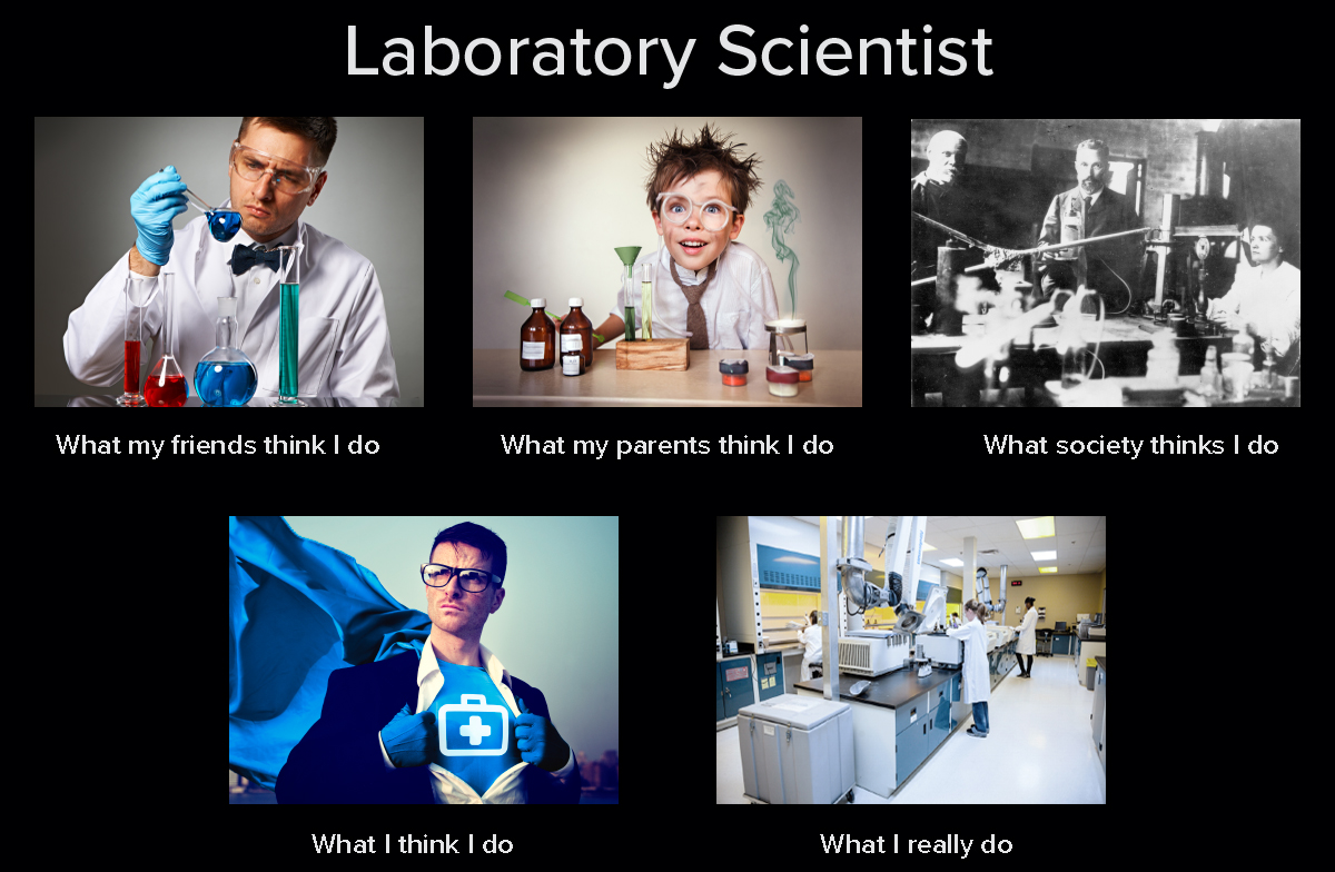 Lab scientist meme